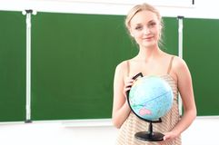 Portrait of a beautiful female teacher Royalty Free Stock Photos