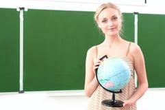 Portrait of a beautiful female teacher Royalty Free Stock Photos