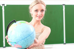 Portrait of a beautiful female teacher Stock Images