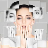 Portrait of beautiful, fresh and healthy girl. Portrait of young, healthy and beautiful woman (plastic surgery, medicine, spa, cosmetics and visage concept stock photography