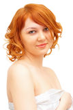Portrait of a beautiful ginger-haired girl Stock Images