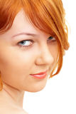 Portrait of a beautiful ginger-haired girl Royalty Free Stock Images