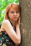 Portrait of a beautiful ginger-haired woman Royalty Free Stock Photo
