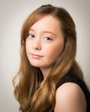 Portrait Of A Beautiful Ginger Teenage Girl Stock Photo