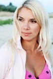 Portrait of a beautiful girl. Portrait of a beautiful blonde girl Royalty Free Stock Image