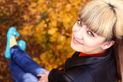 Portrait of a beautiful girl. Portrait of a beautiful young girl autumn Royalty Free Stock Photo