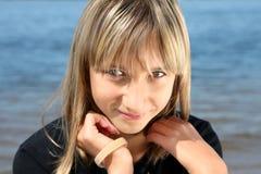 Portrait of the  beautiful girl Stock Photo