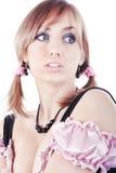Portrait of the beautiful girl Stock Image