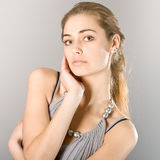 Portrait of the beautiful girl Royalty Free Stock Photography