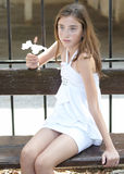Portrait of beautiful girl . Stock Photos