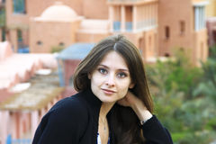The portrait of beautiful girl Stock Images