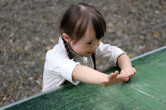 Portrait of beautiful girl. Portrait of beautiful young girl playing stock image