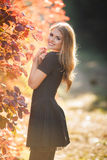 Portrait of a beautiful girl in autumn Park Royalty Free Stock Photos