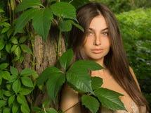 Portrait of a beautiful girl Stock Photos