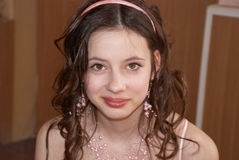 Portrait of beautiful girl. Beauty contest Royalty Free Stock Photography