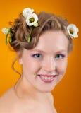 Portrait of beautiful girl  blonde Royalty Free Stock Photo
