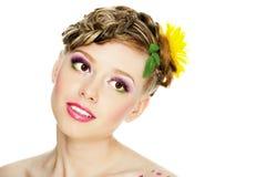 Portrait of beautiful girl with  bodyart Stock Image