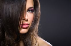Portrait of beautiful girl with brilliant makeup Stock Image