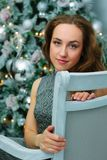 Portrait of beautiful girl during christmas - christmas and new year concept royalty free stock photo