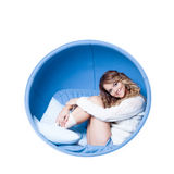 Portrait of  beautiful girl at the circle,  woman Royalty Free Stock Photos