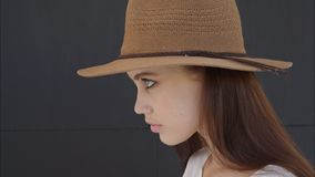 Portrait of a beautiful girl stock footage