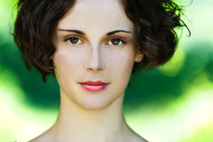 Portrait of beautiful girl close up Royalty Free Stock Images