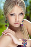Portrait of a beautiful girl close-up Stock Image
