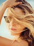 Portrait of beautiful girl close-up, Stock Photos