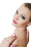 Portrait of the beautiful girl- Creative make-up royalty free stock image