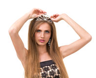 Portrait of beautiful girl with diadem Stock Image
