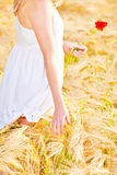Portrait of beautiful girl in field Royalty Free Stock Photos