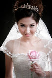 Portrait of beautiful girl with flower on her face Royalty Free Stock Photo