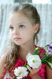 Portrait of beautiful girl with flower Royalty Free Stock Photography