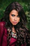 Portrait of a beautiful girl gypsy Stock Photos