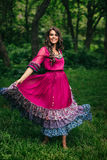 Portrait of a beautiful girl gypsy Stock Photography