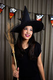 Portrait of a beautiful girl. Halloween theme. Portrait of a beautiful girl Halloween theme Royalty Free Stock Image