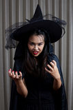 Portrait of a beautiful girl. Halloween theme. Portrait of a beautiful girl Halloween theme Stock Photo