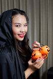 Portrait of a beautiful girl. Halloween theme. Portrait of a beautiful girl Halloween theme Stock Photography