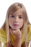 Portrait of beautiful girl, head on her fist Royalty Free Stock Photography