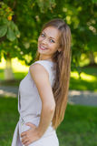 Portrait of a beautiful girl with long blond hair Royalty Free Stock Photo