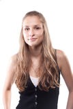 Portrait of a beautiful girl with long hair Royalty Free Stock Image