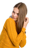 Portrait of a beautiful girl with long hair Royalty Free Stock Photo