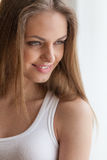 Portrait of beautiful girl with long hair. Royalty Free Stock Image