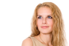 Portrait of a beautiful girl looking to the side Royalty Free Stock Photos