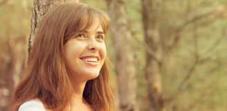 Portrait of a beautiful girl on nature Royalty Free Stock Photography