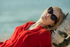 Portrait of beautiful girl. Outdoor shoot Stock Photo
