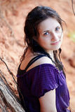 Portrait of the beautiful girl outdoors. Stock Photos