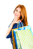 Portrait of beautiful girl with packages Stock Photo