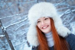 Portrait of beautiful girl in park Stock Image
