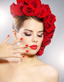 Portrait of beautiful girl with perfect make up Royalty Free Stock Photography